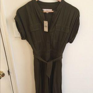 Hunter Green Dress, Midi- Brand New!